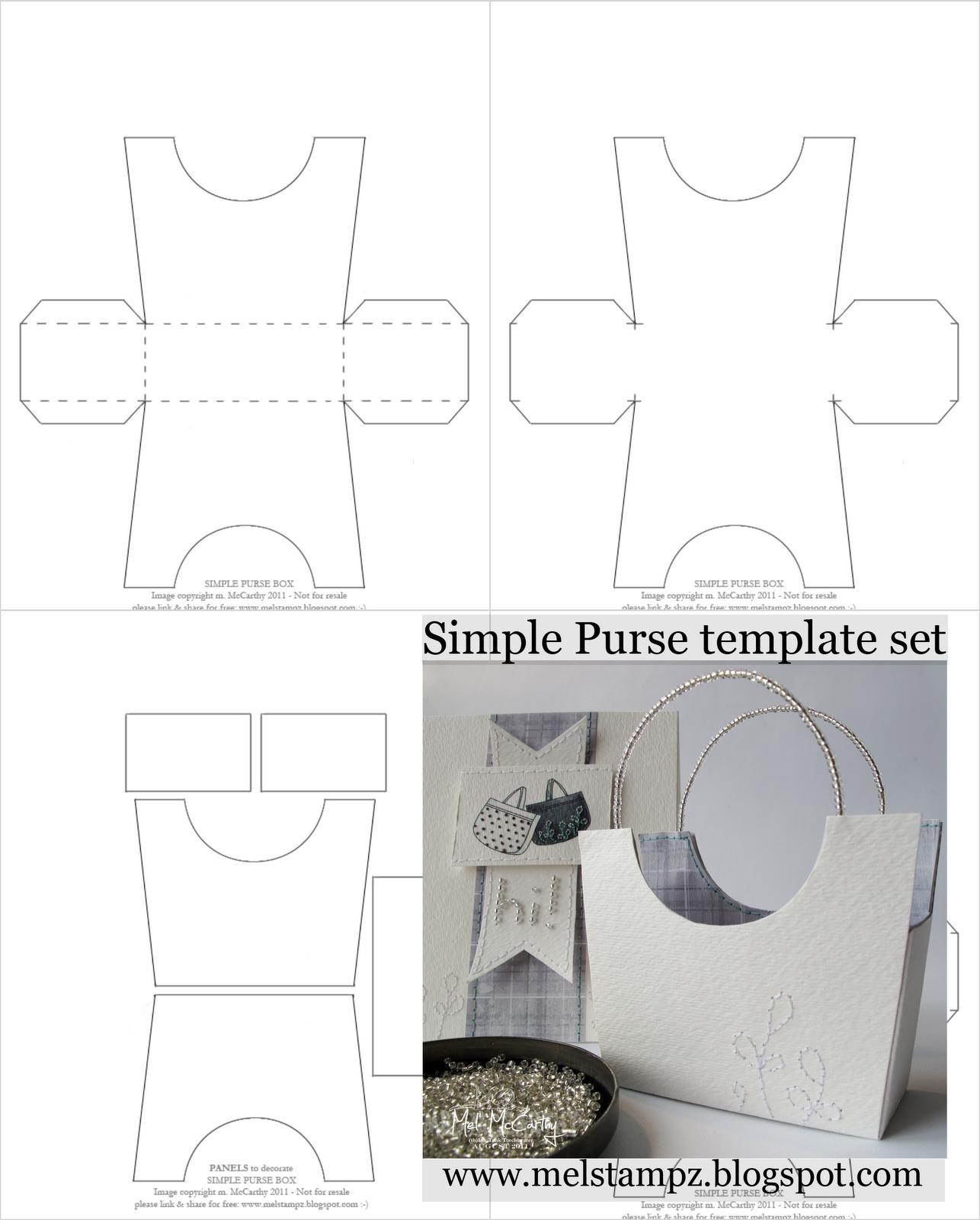 Mel Stampz: New simple purse box Templates