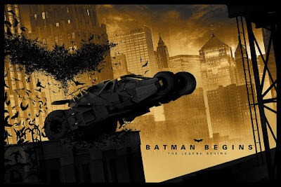 Batman Begins Screen Print by Matt Ferguson x Bottleneck Gallery x Vice Press