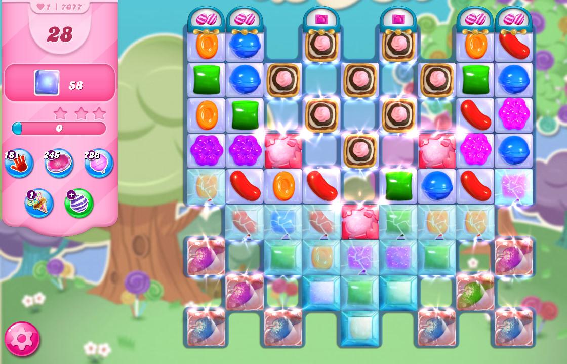 Candy Crush Saga level 7077