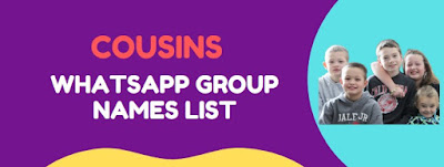 funny whatsapp group names for cousins