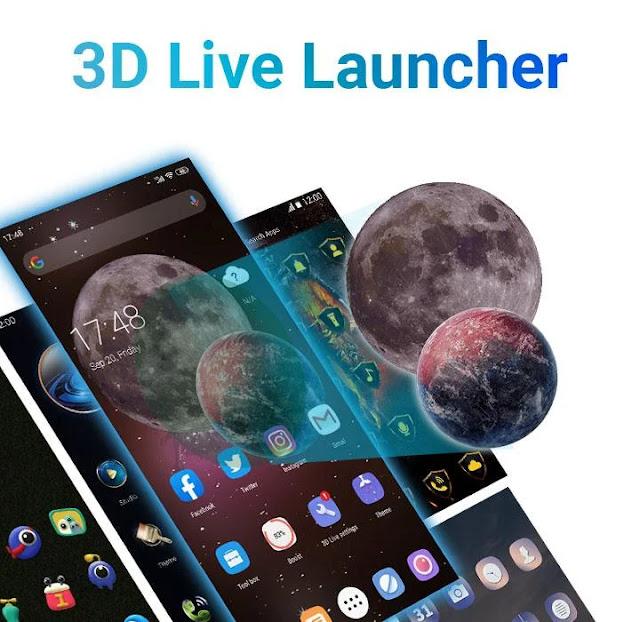 تنزيل 3D Launcher  برنامج التشغيل المثالي ثلاثي الأبعاد المباشر  قاذفة ثلاثية الأبعاد مليئة بالميزات للاندرويد