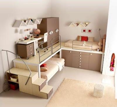 Desain Kamar Tidur Dengan Lemari.