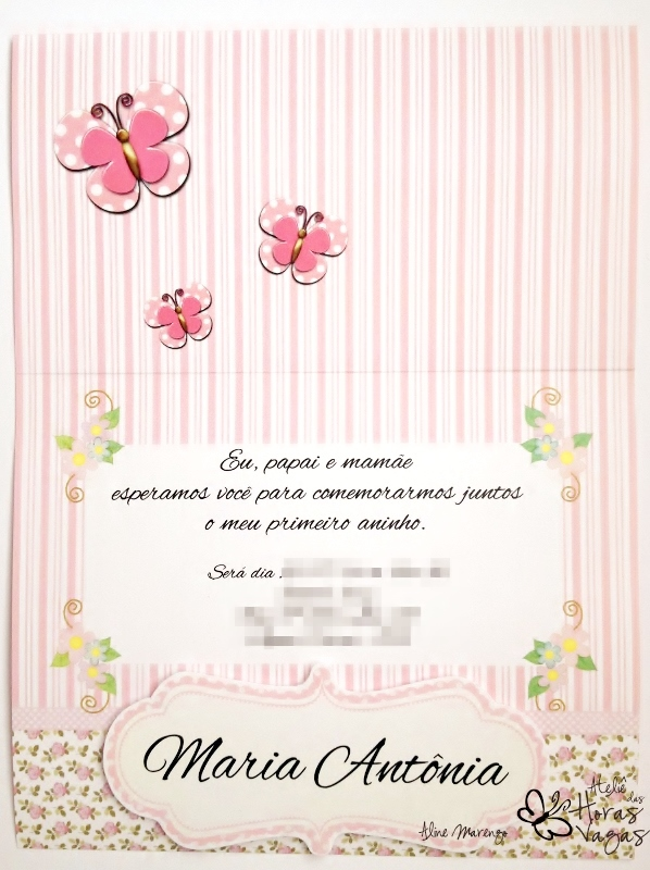 Ateliê Das Horas Vagas Aline Barbosa Convite Jardim Das Borboletas