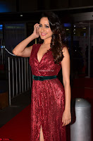 Pragya Jaiswal stunning Smiling Beauty in Deep neck sleeveless Maroon Gown at 64th Jio Filmfare Awards South 2017 ~  Exclusive 049.JPG