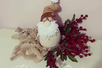 Molde mini papai Noel para imprimir: Artesanato Criativo