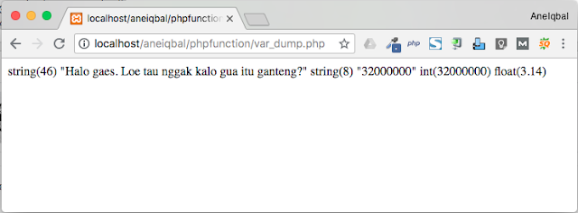 tutorial php function aneiqbal