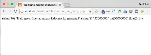 fungsi var_dump pada php