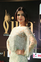 Sonal Chauhan in a stonework Floor Length Silver Designer Gown at IIFA Utsavam Awards March 2017 021.JPG