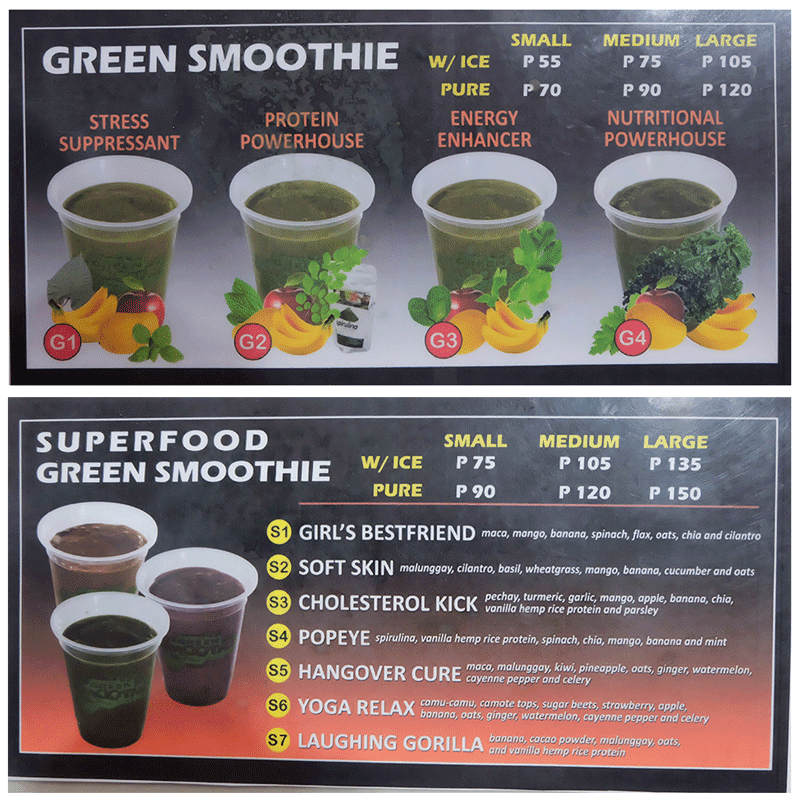 Superfood Green Smoothie Menu 2 of 2