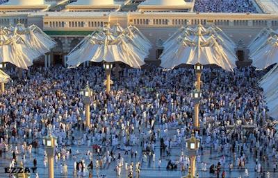 متى تفتح مظلات المسجد النبوي