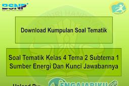 Soal Tematik Kelas 4 Tema 2 Subtema 1 Sumber Energi Dan Kunci Jawabannya