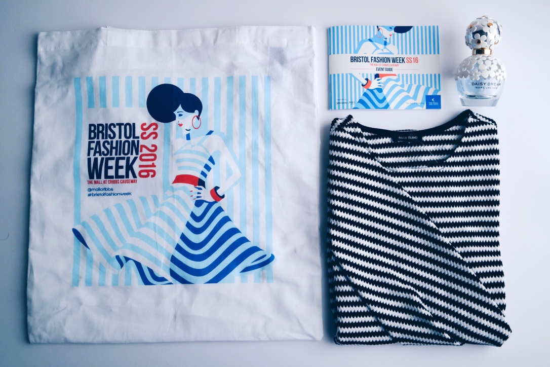 Bristol Fashion Week Spring Summer 2016 Goodie Bag and Striped Dress