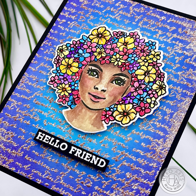 Cardbomb, Hero Arts, Color Layering Flower Power, mixed media, ink blending,watercolor, cards, cardmaking, stamps, stamping, ink, paper, papercraft, heat embossing