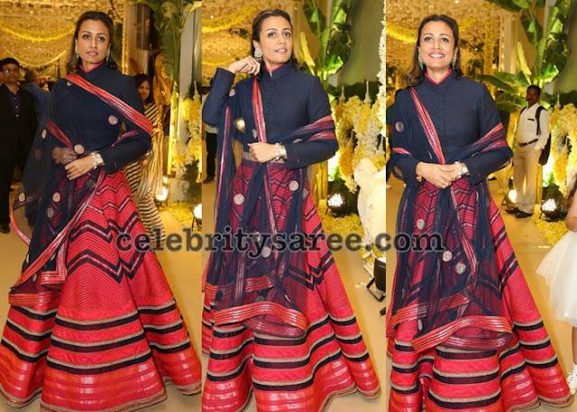 Namrata Shirodkar Designer Lehenga