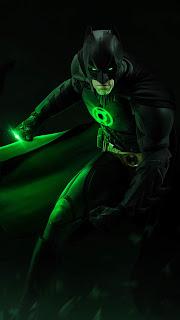 Batman & Green Lantern Combined Mobile HD Wallpaper