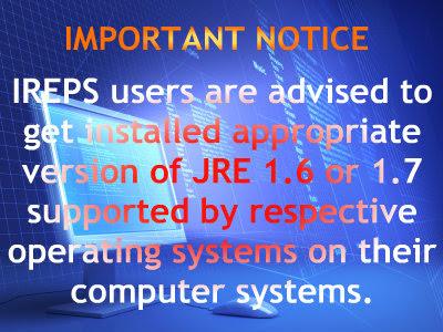 IREPS JRE update
