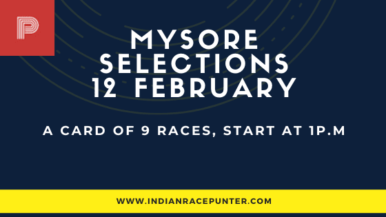 Mysore Race Selections 12 February, India Race Tips by indianracepunter