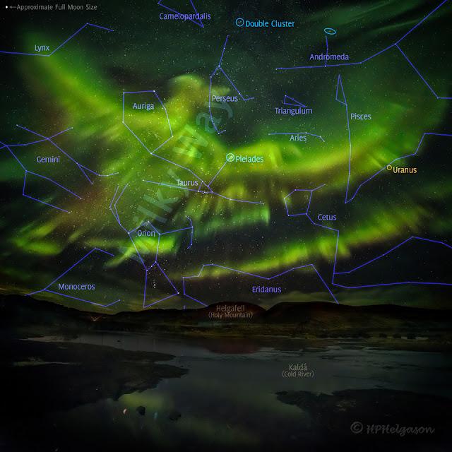 Cực quang phượng hoàng trên bầu trời Iceland. Tác giả : Hallgrimur P. Helgason. Chú thích : Judy Schmidt.