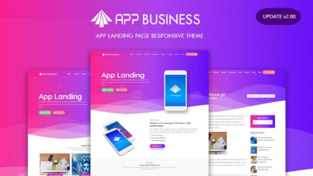 Tải xuống miễn phí Themes Blogger App Bussiness v2.00