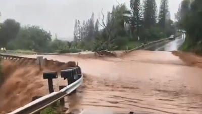 EVACUACION DE EMERGENCIA EN MAUI, HAWAII POR ROTURA EN PRESA