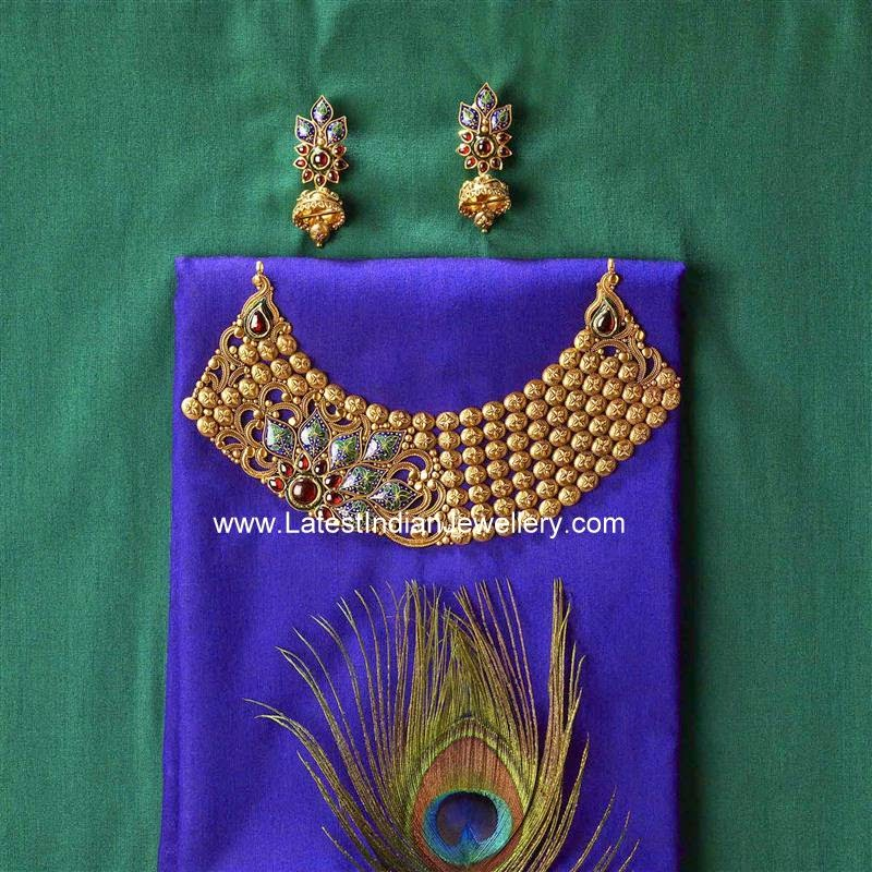 azva gold jewellery necklace design