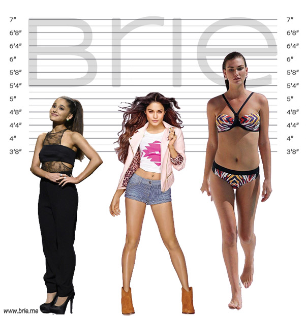 Vanessa Hudgens height comparison with Ariana Grande and Karlie Kloss