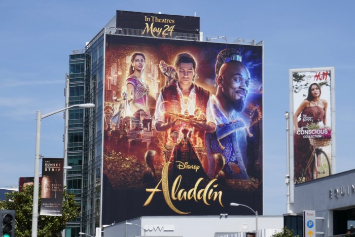 Giant Disney Aladdin movie billboard