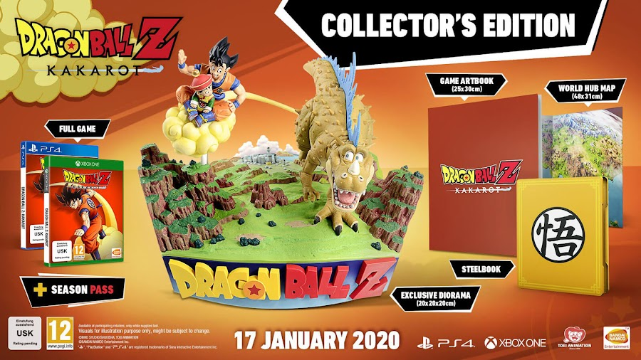 dragon ball z kakarot collectors edition content bandai namco ps4 xb1 diorama