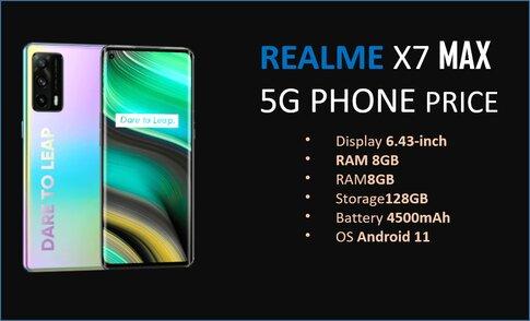 Realme x7 max 5g Phone Price