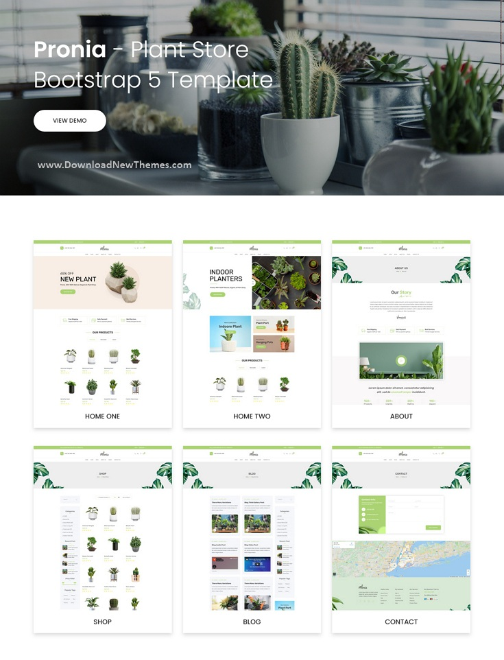 Plant Store Bootstrap 5 Template