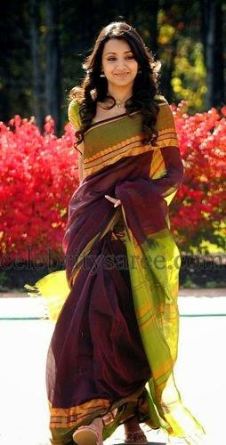 Please, that Trisha krishnan saree consider