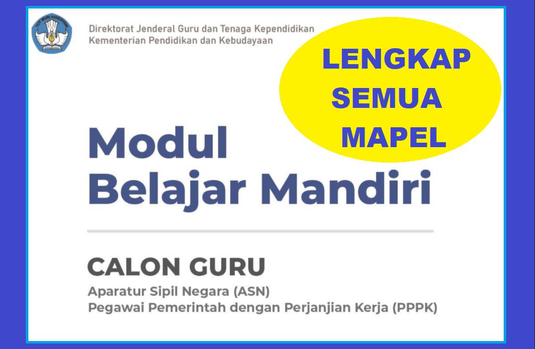 gambar modul belajar peserta tes seleksi pppk guru 2021
