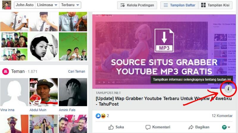 Tombol Konteks Facebook