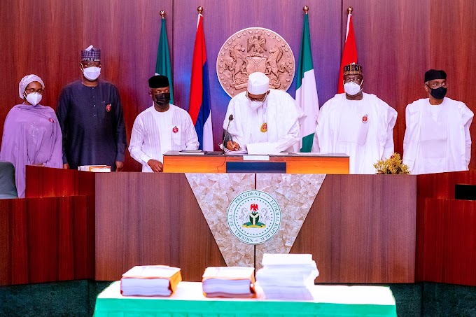 President Buhari Signs 2021 Budget Into Law