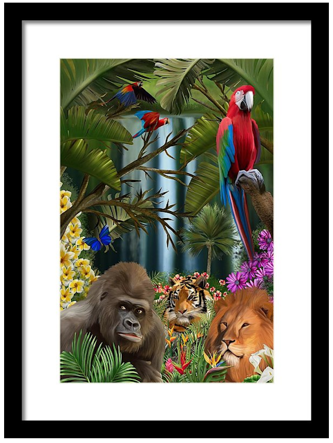 jungle art with animals