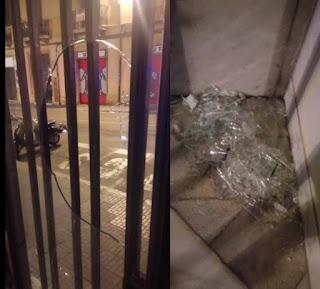 vidres trancats portal carrer apodaca