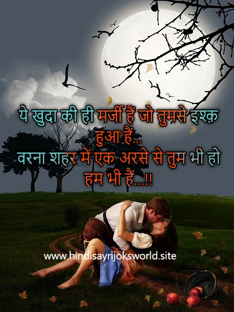 Romantic love shayari quote