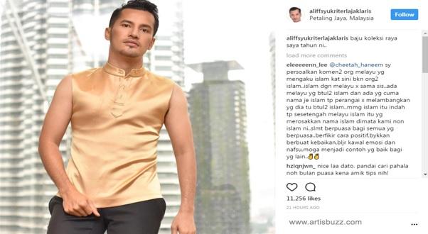 Fesyen Baju Raya Dato Aliff Syukri Terlajak Laris Di Kecam Netizen..