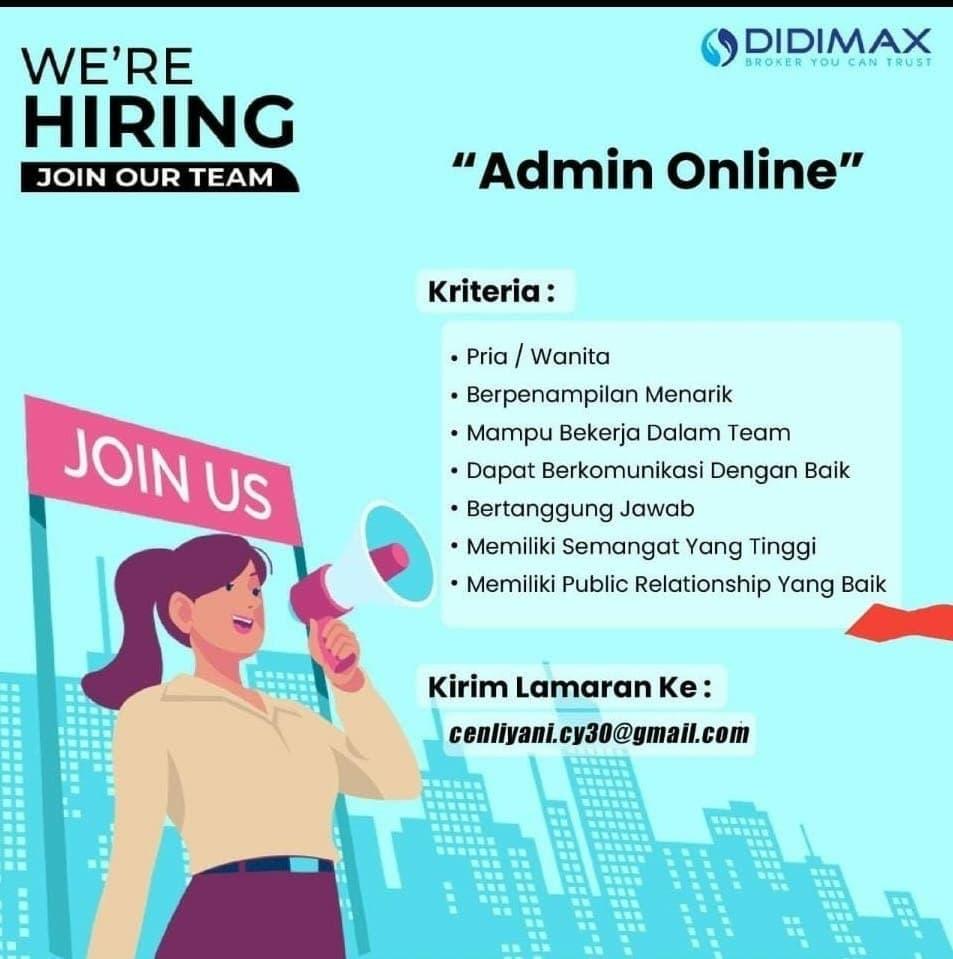 Lowongan Kerja Admin Online PT. Didimax Bandung Agustus 2021