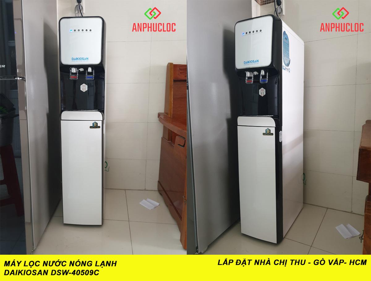 2. Máy lọc nước nóng lạnh Daikiosan DSW-40509C 9 cấp lọc tại chị Thu - Gò Vấp
