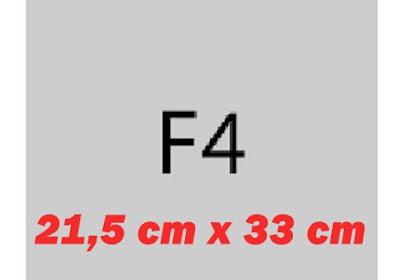 Berapakah Ukuran Kertas F4 Dalam CM?