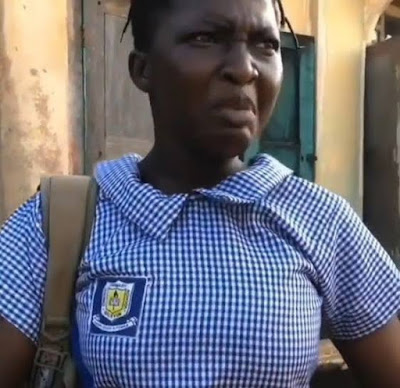"""Funny video: Secondary School Girl Says """"I'm a marlian"""" After Being Sent Away From School"""