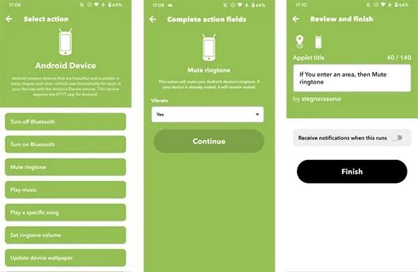 Cách tự động bật tắt chế độ im lặng trên Android