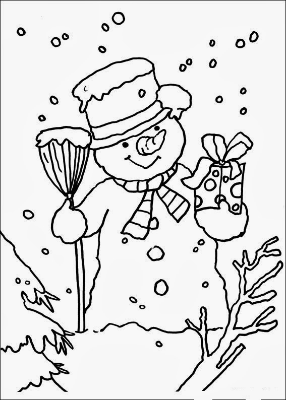 fun coloring christmas pages | Fun Coloring Pages: Christmas - Snowman Coloring Pages