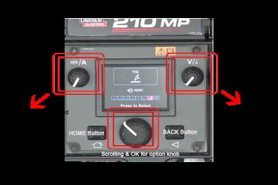 Power MIG 210 Knob controller