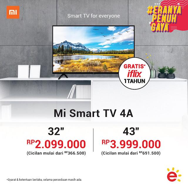 "#Erafone - #Promo Beli Mi Smart TV 4A 32"" & 43"" Bisa Gratis IFLIX 1th"