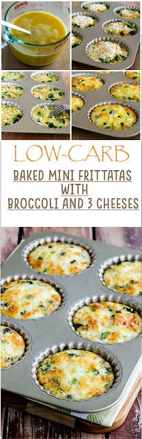 LOW-CARB BAKED MINI FRITTATAS WITH BROCCOLI AND THREE CHEESES