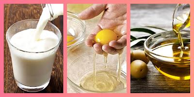 Raw milk & eggs & olive oil