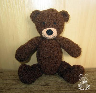 игрушка крючком, вязаный плюшевый мишка, медвежонок на заказ, ручная работа