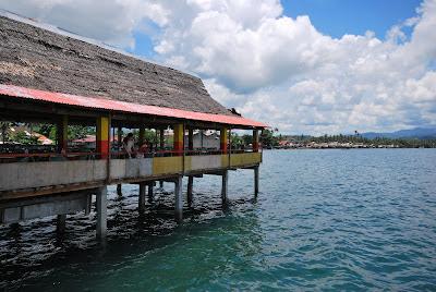 Floating restaurant at Baybay, Leyte